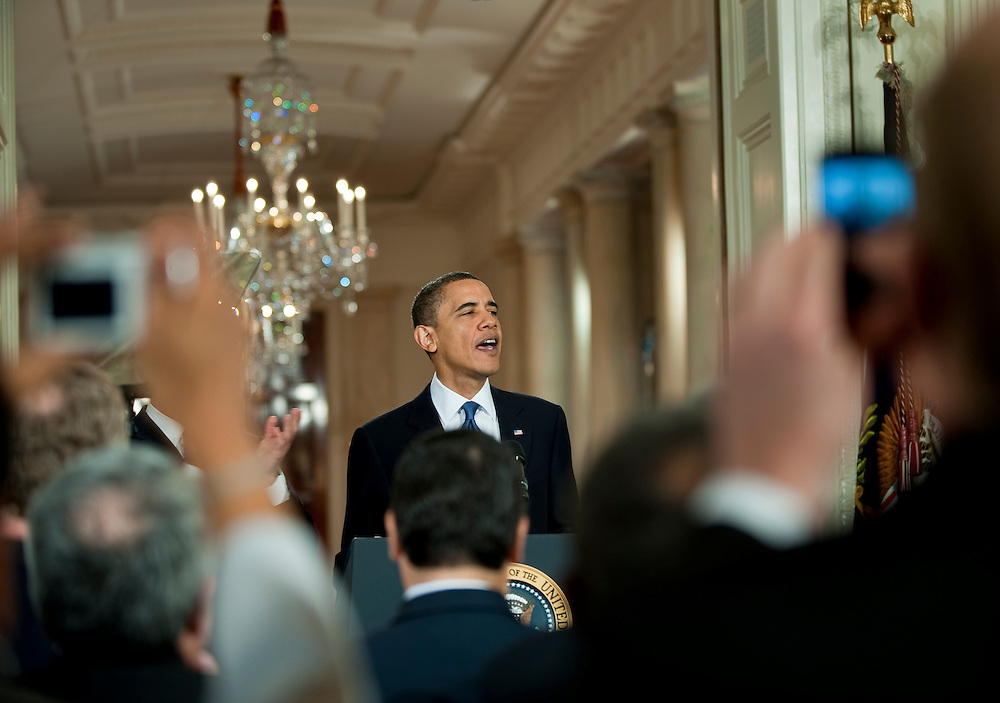 Mar 23,2010 - Washington, District of Columbia USA - .In a ceremony in the East Room of the White House  after addressing an audience that included lawmakers who supported the measure, President Obama signed a landmark health-care bill into law Tuesday, enacting a sweeping overhaul of the nation's $2.5 trillion health system...(Credit Image: © Pete Marovich/ZUMA Press)