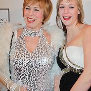 NLD/Amsterdam/20120204 - 30ste Verjaardag Richy Brown, Mirjam de Raaf en dochter Kiki