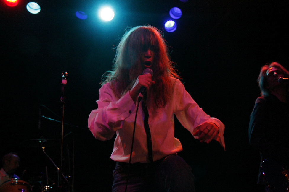 Patti Smith performing live on he 60th birthday at New York City's Bowery Ballroom