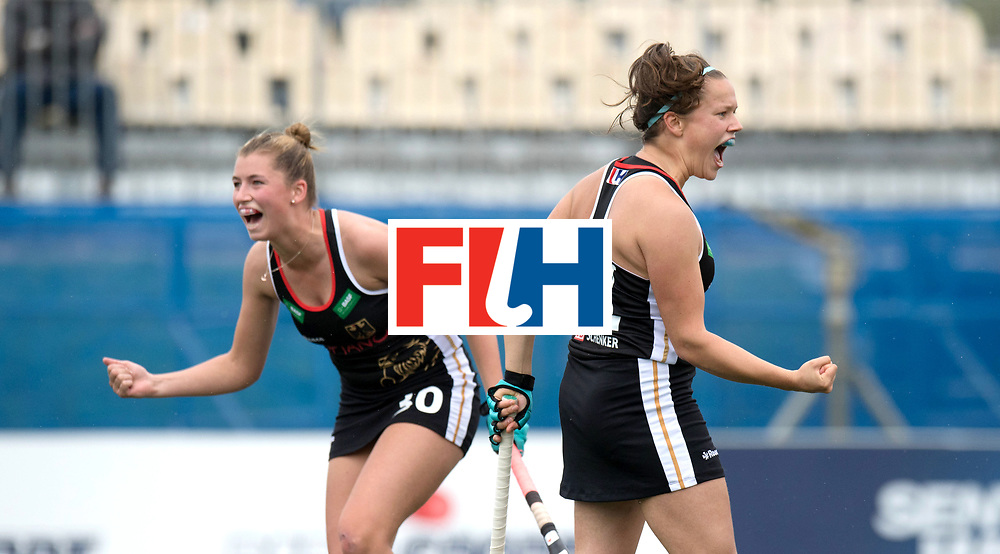 AUCKLAND - Sentinel Hockey World League final women<br /> Match id 10293<br /> 03 England v Germany <br /> Foto:  0-1  Charlotte Stapenhorst scores and Hanna Granitzki celebrate.<br /> WORLDSPORTPICS COPYRIGHT FRANK UIJLENBROEK