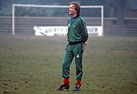 Sammy McIlroy, footballer, Manchester United & N Ireland, photographed during training session at St Albans prior to their fixture against England at Wembley. 19820223014SMI<br />