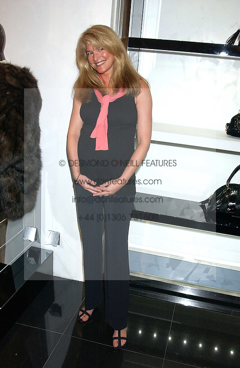 AVERY AGNELLI at a party hosted by Versace during London Fashion Week 2005 at their store in Slaone Street, London on 19th September 2005.<br /><br />NON EXCLUSIVE - WORLD RIGHTS