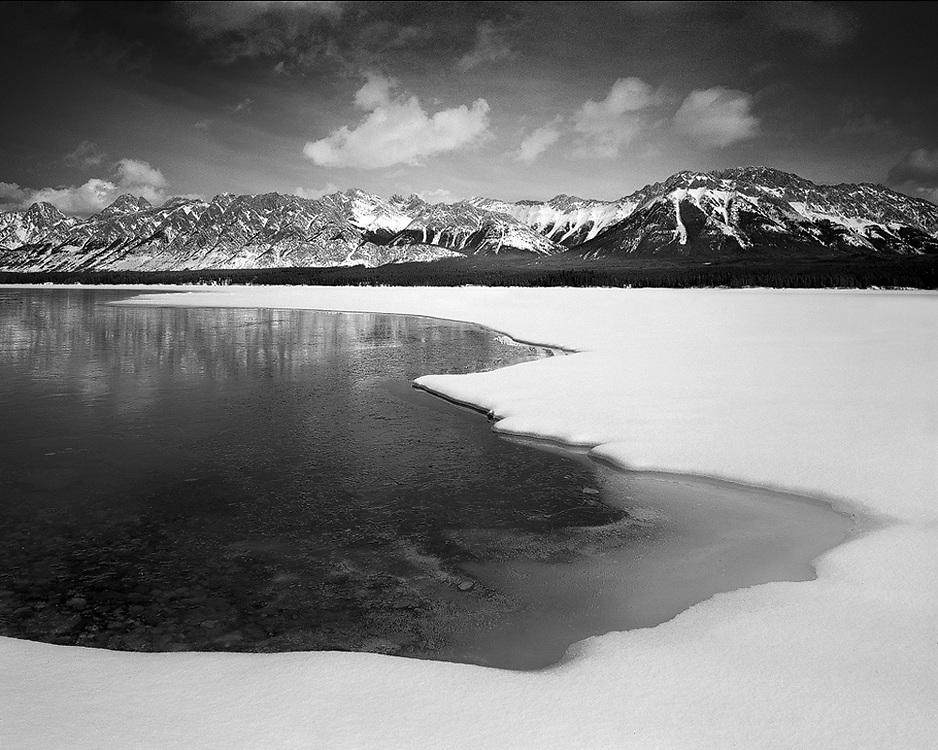 Lower Kananaskis Lake in Winter