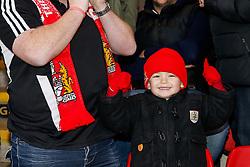 Bristol City fans in the away stand - Photo mandatory by-line: Rogan Thomson/JMP - 07966 386802 - 20/12/2014 - SPORT - FOOTBALL - Crewe, England - Alexandra Stadium - Crewe Alexandra v Bristol City - Sky Bet League 1.