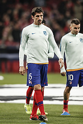 February 20, 2019 - Madrid, Spain - Stefan Savic (Atletico de Madrid)  Pre-match warm-up   UCL Champions League match between Atletico de Madrid vs Juventus at the Wanda Metropolitano stadium in Madrid, Spain, February 20, 2019  (Credit Image: © Enrique De La Fuente/NurPhoto via ZUMA Press)