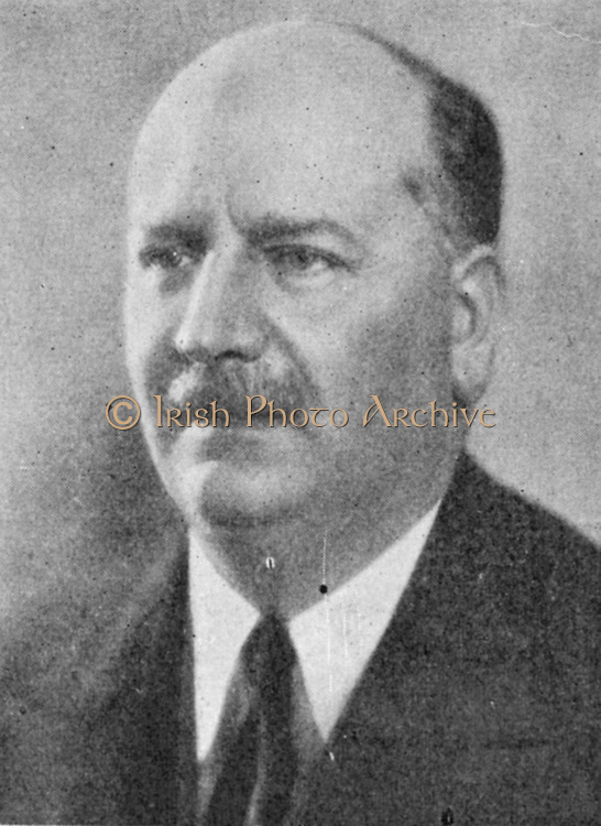 Pierre Etienne Flandin (1889-1958) French conservative politician and leader of the Democratic Republican Alliance (ARD), Prime Minister 1934-1935, 1940-1941. Foreign Minister in Vichy government December 1940-January 1941.