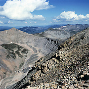 View from Mt. Democrat in the Colorado Rockies. 14,148 ft. elevation