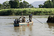 Africa, Ethiopia, a boat on the Blue Nile