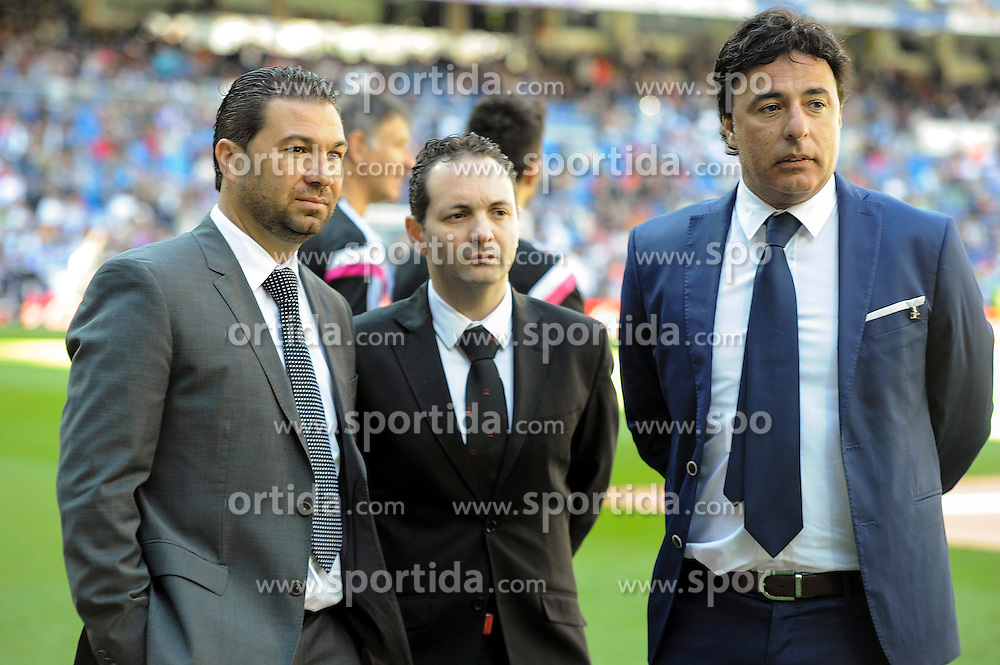 05.04.2015, Estadio Santiago Bernabeu, Madrid, ESP, Primera Division, Real Madrid vs FC Granada, 29. Runde, im Bild Granada&acute;s president Enrique Pina Campuzano // during the Spanish Primera Division 29th round match between Real Madrid CF and Granada FC at the Estadio Santiago Bernabeu in Madrid, Spain on 2015/04/05. EXPA Pictures &copy; 2015, PhotoCredit: EXPA/ Alterphotos/ Luis Fernandez<br /> <br /> *****ATTENTION - OUT of ESP, SUI*****
