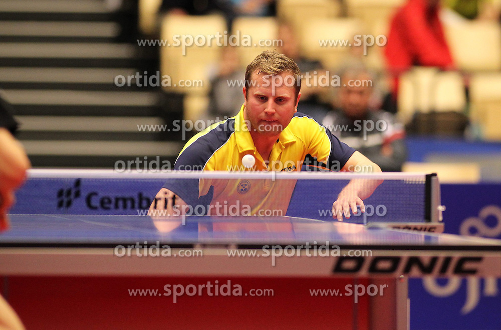 19.10.2012, MGH Arena, Herning, DEN, ETTU, Tischtennis Europameisterschaft, im Bild Jens LUNDQVIST (SWE) bei der Ballannahme // during the Table Tennis European Championships at the MGH Arena, Herning, Denmark on 2012/10/19. EXPA Pictures © 2012, PhotoCredit: EXPA/ Eibner/ Wuest ***** ATTENTION - OUT OF GER *****