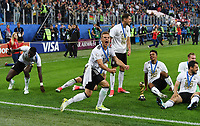 FUSSBALL FIFA Confed Cup 2017 FINALE IN ST. PETERSBURG Chile - Deutschland                       02.07.2017 JUBEL Deutschland; Antonio RUEDIGER, Joshua KIMMICH, Leon GORETZKA, Benjamin HENRICHS, Amin YOUNES und Torwart Bernd Leno (v.li.)