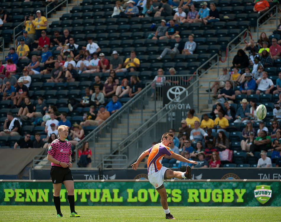 University of Delaware and Clemson University compete in pool play of the 2017 Penn Mutual Collegiate Rugby Championship at Talen Energy Stadium in Philadelphia. June 3, 2017. <br /> <br /> By Jack Megaw.<br /> <br /> www.jackmegaw.com<br /> <br /> jack@jackmegaw.com<br /> @jackmegawphoto<br /> [US] +1 610.764.3094<br /> [UK] +44 07481 764811