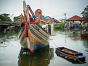 15 JUNE 2105 - NARATHIWAT, NARATHIWAT, THAILAND:   Fishing boats in port in Narathiwat.     PHOTO BY JACK KURTZ