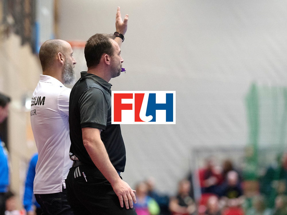 BERLIN - Indoor Hockey World Cup<br /> Austria - Belgium<br /> foto: de CHAFFOY Alexandre and Lee Barron<br /> WORLDSPORTPICS COPYRIGHT FRANK UIJLENBROEK
