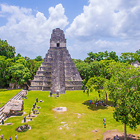 TIKAL , GUATEMALA - JULY 29 : The archaeological site of the pre-Columbian Maya civilization in Tikal National Park , Guatemala on July 29 2015.  The park is UNESCO World Heritage Site since 1979