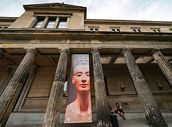 View of exterior of Neues Museum on Museum Island , Museumsinsel, in Berlin, Germany