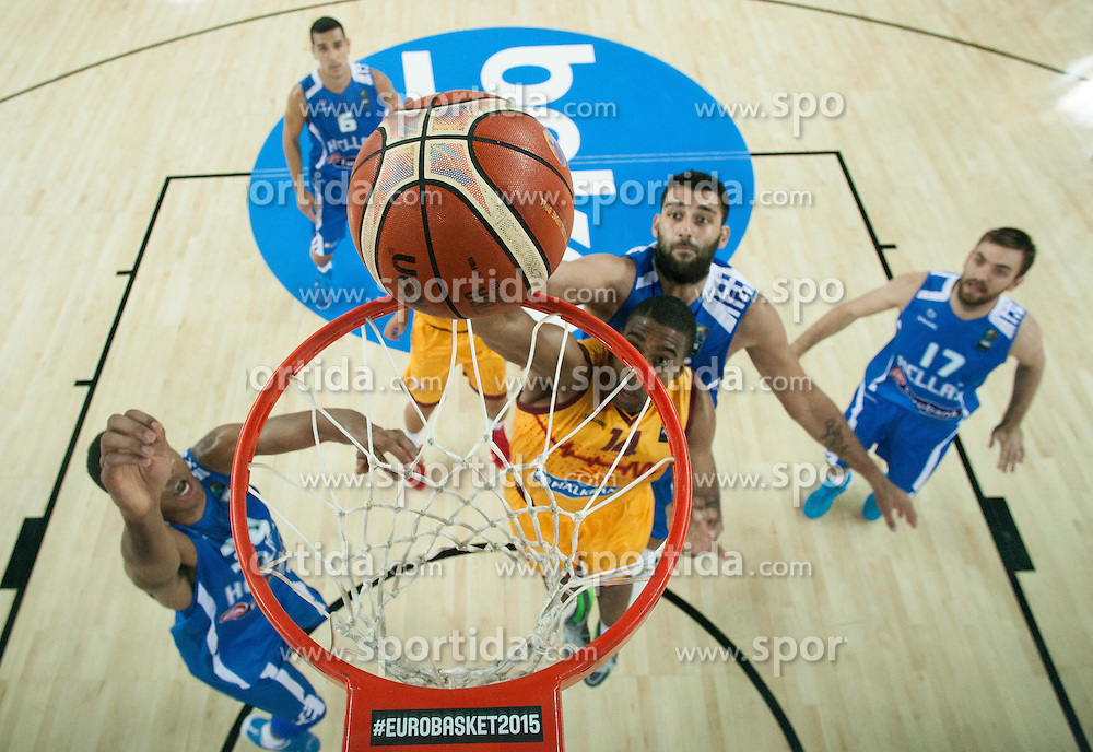 Richard Hendriks of Macedonia during basketball match between FYR of Macedonia and Greece at Day 1 in Group C of FIBA Europe Eurobasket 2015, on September 5, 2015, in Arena Zagreb, Croatia. Photo by Vid Ponikvar / Sportida