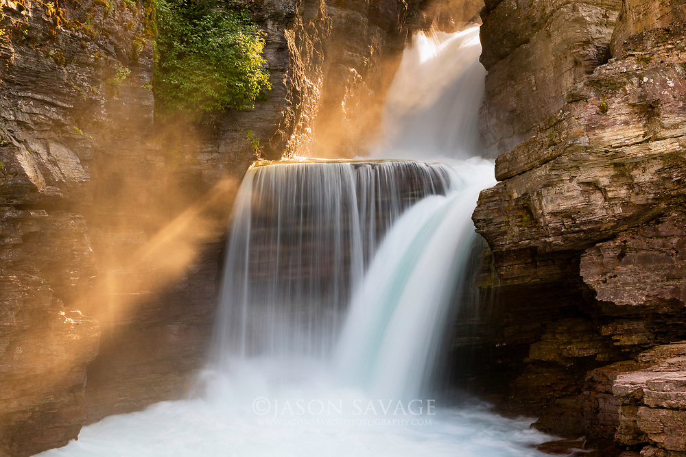 St Mary Falls, Glacier National Park.