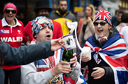 Royal fans outside Windsor Castle in Berkshire after Buckingham Palace has announced the news of the birth of the Duke and Duchess of Sussex's new baby boy.