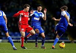 Luke Freeman of Bristol City tries to tackle Christophe Berra of Ipswich Town - Mandatory by-line: Robbie Stephenson/JMP - 30/12/2016 - FOOTBALL - Portman Road - Ipswich, England - Ipswich Town v Bristol City - Sky Bet Championship