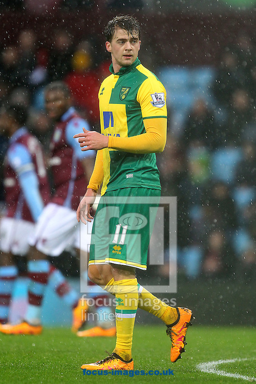 Patrick Bamford of Norwich during the Barclays Premier League match at Villa Park, Birmingham<br /> Picture by Paul Chesterton/Focus Images Ltd +44 7904 640267<br /> 06/02/2016