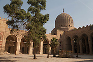 Egypt. Cairo - mosque mausoleum of Ibn Barquq in the northern cemetery. inside courtyard +