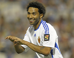 Jermain Pennant enjoys his first game in La Liga  as  Real Zaragoza beat Tenerife  1-0 in La Romareda the first game of the 2009/2010 LA LIGA season, 29th August 2009