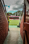 Booth Crescent tunnel prior to the Sky Bet League 2 match between York City and Mansfield Town at Bootham Crescent, York, England on 29 August 2015. Photo by Simon Davies.
