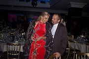 DIANA BURAKA; EDMUND CADDY, The London Bar and Club awards. Intercontinental Hotel. Park Lane, London. 6 June 2011. <br /> <br />  , -DO NOT ARCHIVE-© Copyright Photograph by Dafydd Jones. 248 Clapham Rd. London SW9 0PZ. Tel 0207 820 0771. www.dafjones.com.