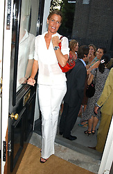 INDIA HICKS at a party to launch the Acqualuna jewellery exhibition at Allegra Hicks, 28 Cadogan Place, London on 22nd June 2005.<br /><br />NON EXCLUSIVE - WORLD RIGHTS