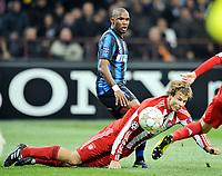 Milano, 23/02/2011<br /> Champions League/Champions League/Inter-Bayern Monaco<br /> Duello Eto'o-Badstuber