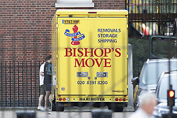© Licensed to London News Pictures. 25/07/2019. London, UK. A removals van is seen at the back of Downing Street in Whitehall. The Conservative Party has elected Boris Johnson as their new leader and Prime Minister, following Theresa May's resignation. Photo credit: Peter Macdiarmid/LNP