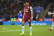 Aston Villa defender Tyrone Mings in action during the Premier League match between Leicester City and Aston Villa at the King Power Stadium, Leicester, England on 9 March 2020.