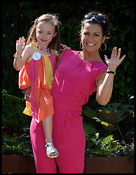 Susanna Reid with Skyla lapham 4, on the first touch-Supporting Sick and Premature babies at St George's Hospital stand  on the VIP preview day at the Chelsea Flower Show. London, United Kingdom. Monday, 19th May 2014. Picture by Andrew Parsons / i-Images