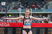 Laura MUIR of Great Britain, winner of the Women's 1000m during the Muller Grand Prix 2018 at Alexander Stadium, Birmingham, United Kingdom on 18 August 2018. Picture by Toyin Oshodi.