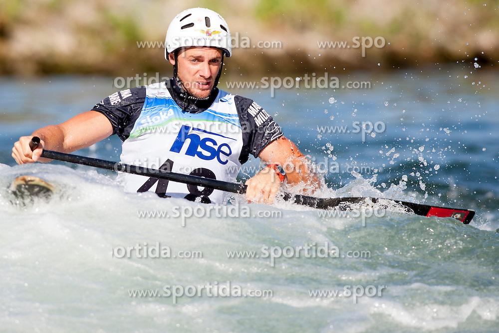 Stefano Cipressi of Italy during Canoe(C1) Man semi-final race at ICF Canoe Slalom World Cup Sloka 2013, on August 17, 2013, in Tacen, Ljubljana, Slovenia. (Photo by Urban Urbanc / Sportida.com)