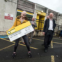 Picture by Christian Cooksey/CookseyPix.com on behalf of Stewart Milne Homes. For more information please contact Fiona Kemp at the Big Partnership on 01224 252490<br /> <br /> Staff from Stewart Milne Homes visit the Beatson Cancer Charity offices in Glasgow to present a cheque for &pound;20,000  part of the money raided by the Stewart Milne Homes Bike4Forty team.<br /> <br /> All rights reserved. For full terms and conditions see www.cookseypix.com
