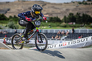 Women Elite #777 (MAIRE Camille) FRA at the 2018 UCI BMX World Championships in Baku, Azerbaijan.