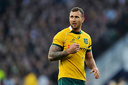 Quade Cooper of Australia looks on - Photo mandatory by-line: Patrick Khachfe/JMP - Mobile: 07966 386802 29/11/2014 - SPORT - RUGBY UNION - London - Twickenham Stadium - England v Australia - QBE Internationals