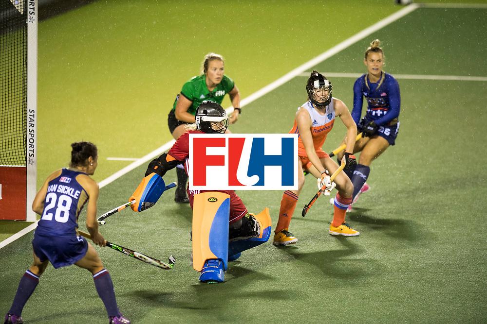 AUCKLAND - Sentinel Hockey World League final women<br /> Match id 10296<br /> 06 Usa v Netherlands<br /> Foto: Julia Remmerswaal (Gk) <br /> WORLDSPORTPICS COPYRIGHT FRANK UIJLENBROEK