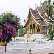 The Haw Phra Bang building as part of the Royal Palace complex in Luang Prabang, Laos.
