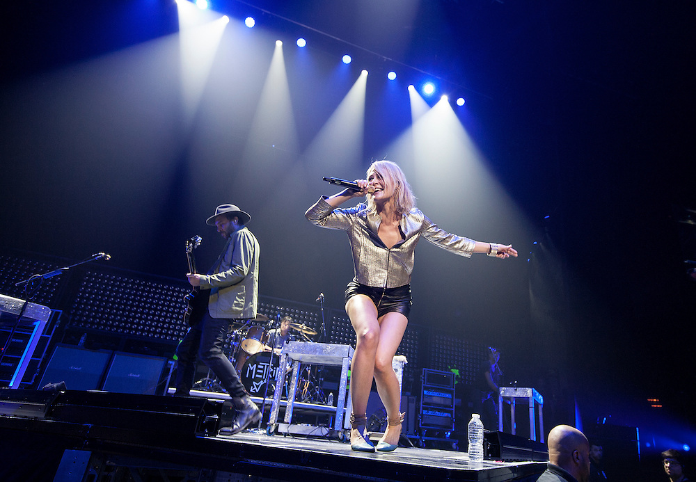 Emily Haines fronts the band Metric in concert at Xcel Energy Center in St. Paul June 9, 2015.