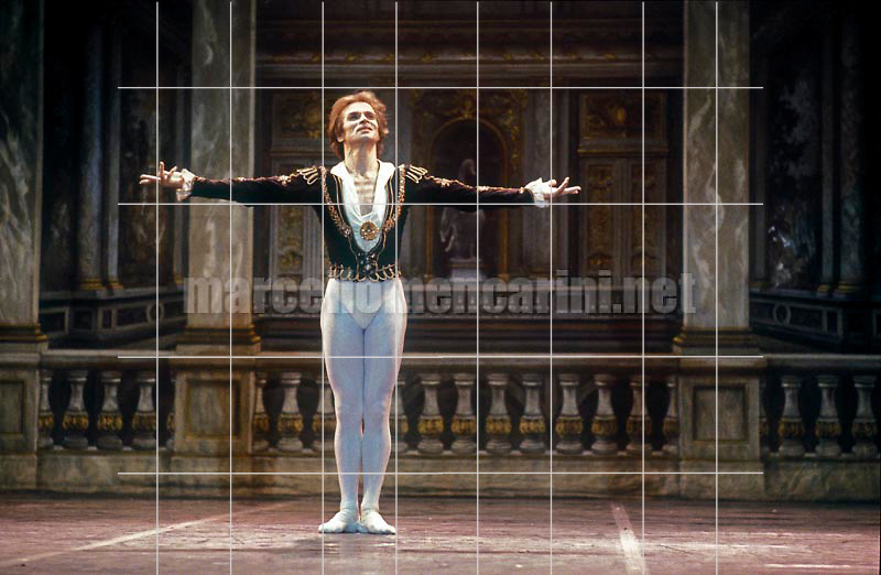 Russian ballet dancer Rudolph Nureyev performing (about 1985) / Il ballerino Rudolph Nureyev (1985 circa) mentre danza - © Marcello Mencarini