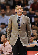 Nov 20, 2013; Phoenix, AZ, USA; Phoenix Suns head coach Jeff Hornacek  watches from the sidelines in the game against the Sacramento Kings at US Airways Center. The Kings defeated the Suns 113-106. Mandatory Credit: Jennifer Stewart-USA TODAY Sports