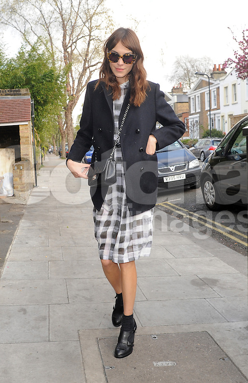 Alexa Chung at a pub in East London, UK. 27/04/2013<br />