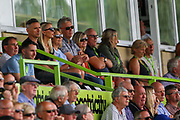 Forest Green Rovers owner Dale Vince watches the match during the EFL Sky Bet League 2 match between Forest Green Rovers and Oldham Athletic at the New Lawn, Forest Green, United Kingdom on 3 August 2019.