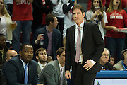 DALLAS, TX - DECEMBER 17: Southern Methodist Mustangs interim head coach Tim Jankovich looks on against the Hampton Pirates on December 17, 2015 at Moody Coliseum in Dallas, Texas.  (Photo by Cooper Neill/Getty Images) *** Local Caption *** Tim Jankovich