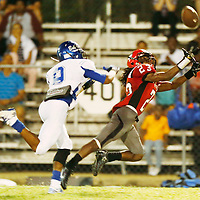 Thomas Wells | Buy at PHOTOS.DJOURNAL.COM<br /> Shannon receiver Ellis Fields dives for a pass against Aberdeen Friday night but came up just a little short.