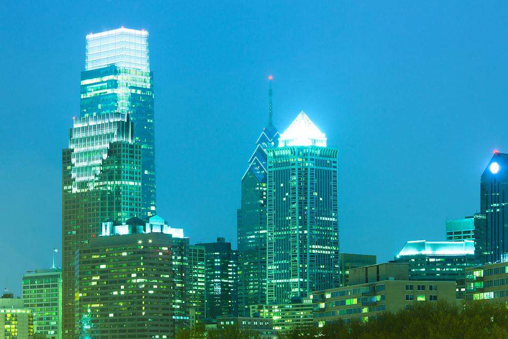 Downtown skyline of Philadelphia, Pennsylvania, USA