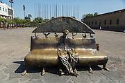 Bronze Sculptures by Colunga , Plaza Tapatia, Guadalajara, Jalisco, Mexico,